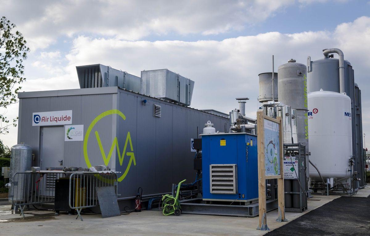 A Saint-Florentin, dans l'Yonne, la wagabox purifie le gaz issu de la fermentation des ordures pour en faire du biométhane pur à 98%. – Photos Waga Energy