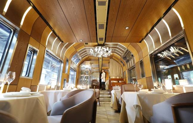 Le Shiki-Shima propose à ses passagers des menus concoctés par de grands chefs.