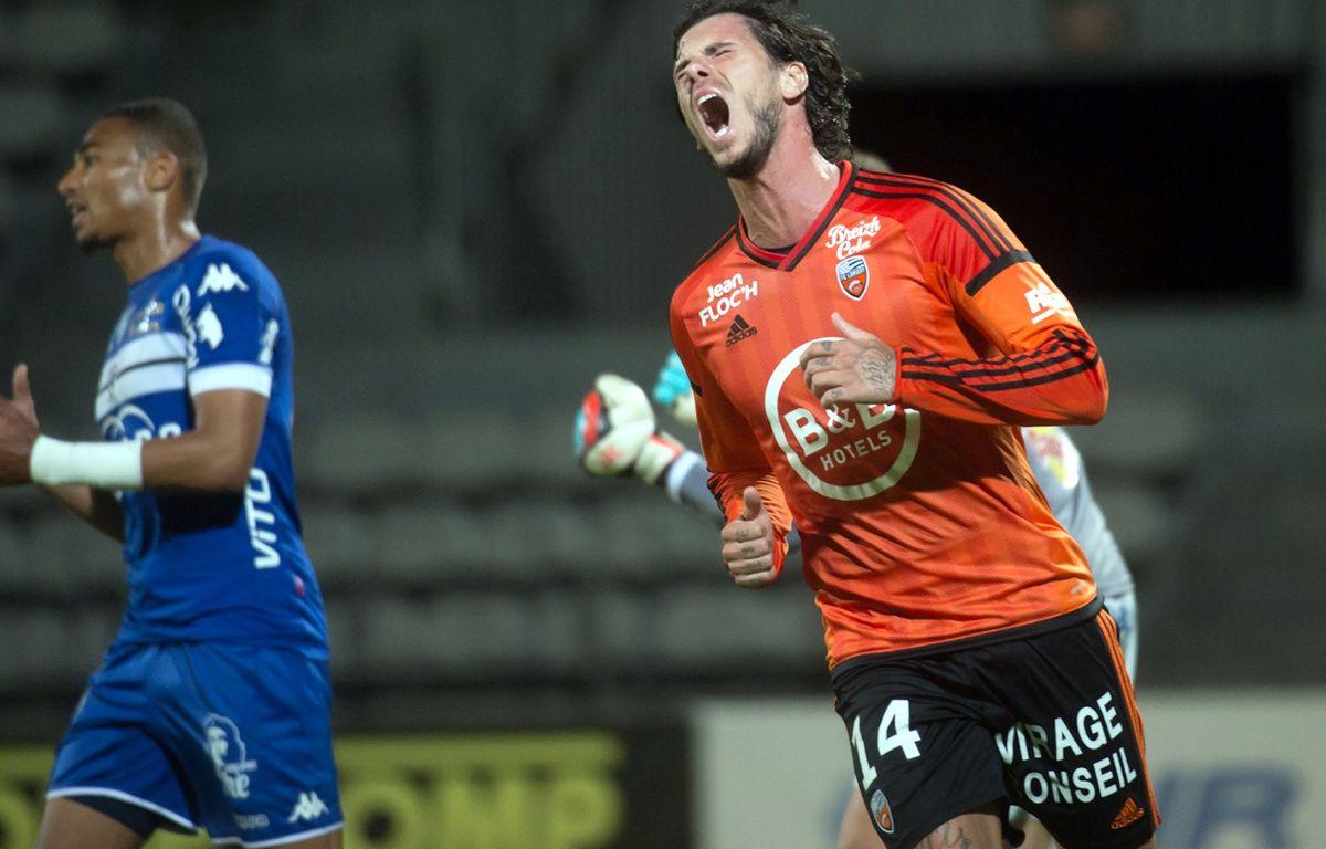 Jérémie Aliadière s'est vu refuser un but valable contre Bastia, le 14 mai 2017. – B. Langlois / AFP