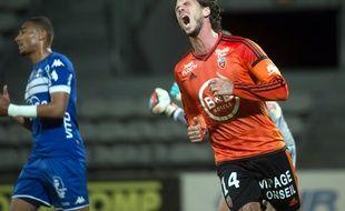 Jérémie Aliadière s'est vu refuser un but valable contre Bastia, le 14 mai 2017.