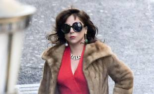 "Lady Gaga sur le tournage du film ""House of Gucci""."