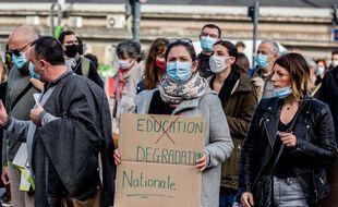 Manifestation des professeurs en France, illustration