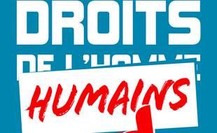 Extrait de la couverture du livre « Droits humains pour tou·te·s », du collectif du même nom.