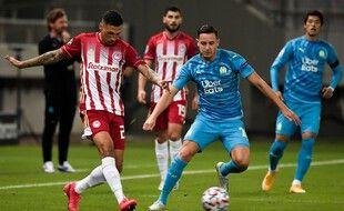 Thauvin lors d'Olympiakos-OM en Ligue des champions, le 21 octobre 2020.
