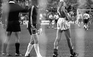 Maxime Bossis et Harald Schumacher en 1982 à Séville.