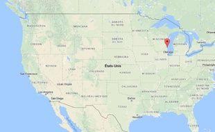 Carte de localisation de Milwaukee aux Etats-Unis.