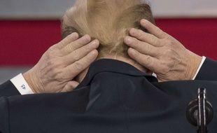 Donald Trump a plaisanté à propos de sa calvitie présumée lors de la conférence CPAC, le 23 février 2018.