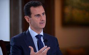Une photo fournie par l'agence de presse syrienne (SANA) du président syrien Bachar al-Assad, le 14 juillet 2016 à Damas