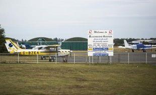 Une avionnette posée le 1er aout 2015 dans l'aéroport de Blackbushe, 60 km au sud-ouest de Londres