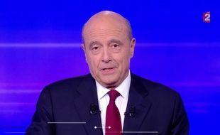 Alain Juppé, lors du dernier débat de la primaire à droite.