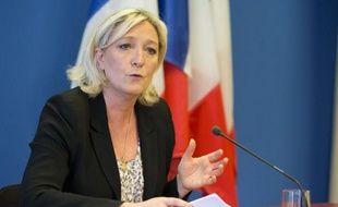 Marine Le Pen, présidente du Front national, le 24 mars 2014 à Nanterre.