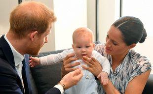 Le prince Harry, son fils Archie, et son épouse, Meghan, duchesse de Sussex