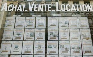Une agence immobilière à Paris.