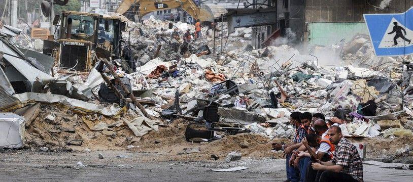 Des ruines à Gaza, après les bombardements de l'armée Israélienne