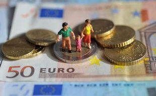 Pièces et billet de la monnaie européenne
