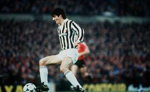 Paolo Rossi lors d'un match avec la Juventus, le 1er mars 1984.