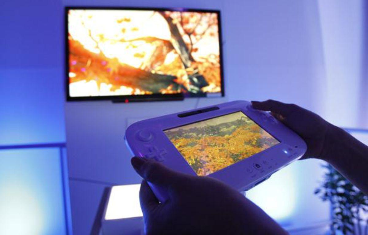 La nouvelle console de Nintendo, la Wii U, a été présentée pour la première fois au salon de l'E3 de Los Angeles le 7 juin 2011. – REUTERS/Mario Anzuoni