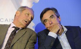 Gérard Longuet en compagnie de François Fillon, le 27 août 2014.
