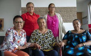 Simone Ngalula, Monique Bitu Bingi, Lea Tavares Mujinga, Noelle Verbeeken and Marie-Jose Loshi  (AP Photo/Francisco Seco)/VLM901/20181552044971//2007010803