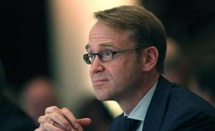 """Jens Weidmann, President of the German Bundesbank attends the Euro Banking Congress in Frankfurt, Germany on November 21, 2014. European Central Bank President Mario Draghi said Friday that the ECB is ready to ramp up its contested asset purchases """"without any undue delay."""" AFP PHOTO / DANIEL ROLAND"""