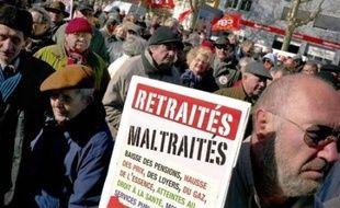 """Après les manifestations de milliers de retraités le 6 mars, à l'appel de tous les syndicats, pour une revalorisation de leurs pensions, la CGT et la FSU prévoient de nouvelles manifestations """"locales, départementales ou régionales"""" le 29 mars."""