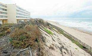 La résidence Le signal, à Soulac-sur-Mer, exposé à l'érosion des dunes sur la façade atlantique.