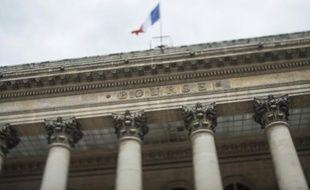 Le palais Brongniart, ex-Bourse de Paris, le 22 août 2014 à Paris
