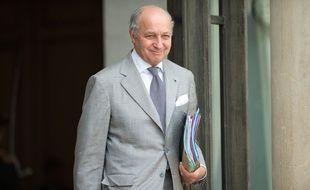 Laurent Fabius, ministre des Affaires étrangères, le 22 juillet 2015 à l'Elysée à Paris.