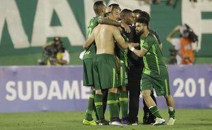 Les joueurs de Chapocoense après leur qualification pour la finale de Coupe sud-américaine