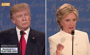 Troisième débat entre Donald Trump et Hillary Clinton, le 19 octobre 2016 à Las Vegas.