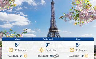 Météo Paris: Prévisions du vendredi 21 février 2020