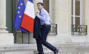 Manuel Valls à son arrivée à l'Elysée le 26 mai 2014 à Paris