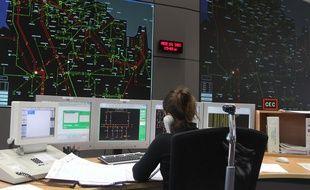 Le centre de dispatching de RTE à Lambersart, près de Lille, dans le Nord.