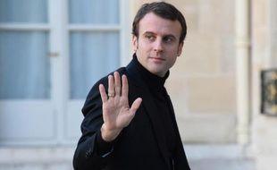 Le ministre de l'Economie Emmanuel Macron, le 11 janvier 2015 à Paris