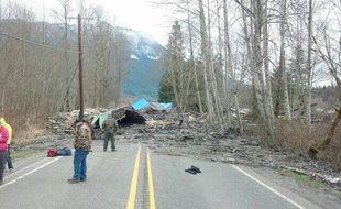 Glissement de terrain meurtrier dans l'Etat de Washington (nord-ouest des Etats-Unis) le 22 mars 2014.