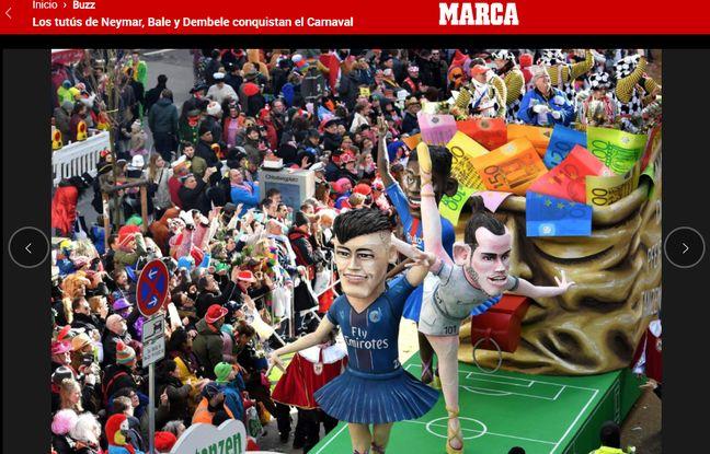 Au Carnaval de Madrid, le foot a droit à sa petite caricature.