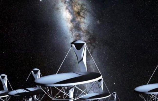 Vue d'artiste du futur radiotélescope Square Kilometer Array.