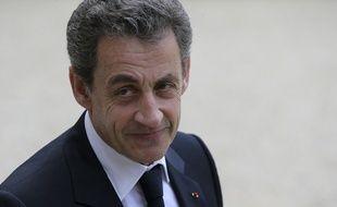 Nicolas Sarkozy dans la cour de l'Elysée, le 25 juin 2016.