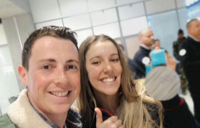 Maxime Montaggioni et la vice-championne olympique de snowboardcross Julia Pereira.