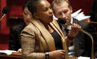 Christiane Taubira à l'Assemblée nationale, le 11 décembre 2012.