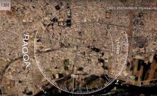 La ville de l'Etat Islamique Raqqa vue par satellite
