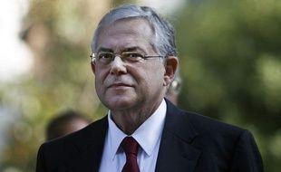 L'ex-vice-président de la BCE et nouveau Premier ministre grec, Lucas Papademos, le 10 novembre 2011, à Athènes.