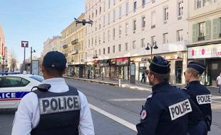 Le drône utilisé ce jeudi après-midi sur l'avenue Jean-Médecin