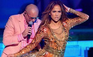 Pitbull et Jennifer Lopez le 18 juillet 2013 à Miami