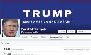 Le page Facebook de Donald Trump.