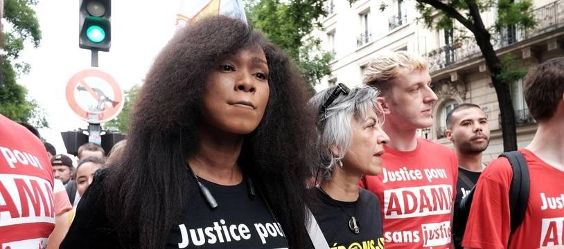 Assa Traoré, sœur d'Adama, lors d'une manifestation à Paris en juin 2020 (illustration)