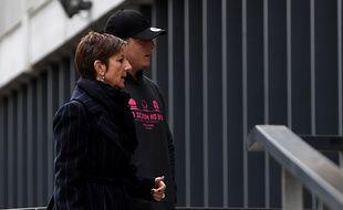 Denis Coulson, ici à son arrivée à l'Hôtel de Police de Grenoble, fait partie des trois joueurs mis en examen pour viol en réunion.  / AFP PHOTO / JEAN-PIERRE CLATOT