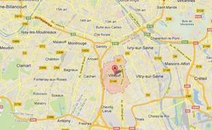 Google map de Villejuif (Val-de-Marne).