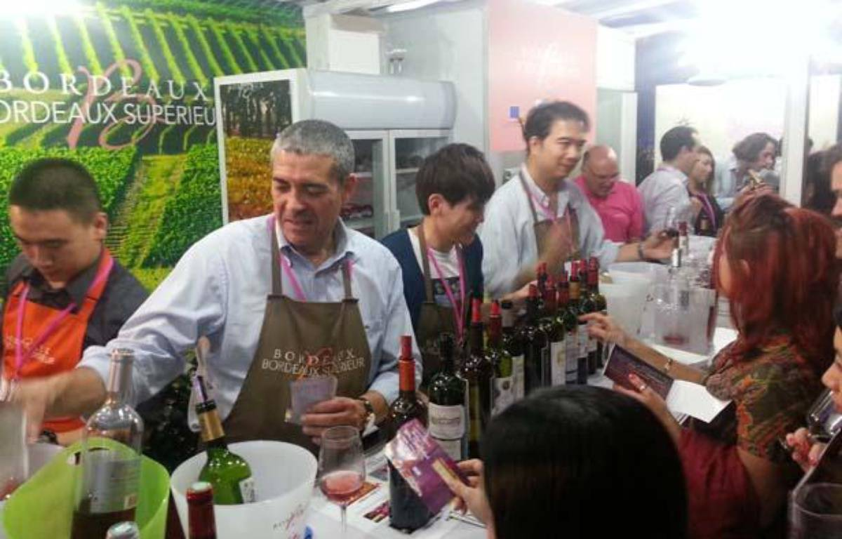 Les vins de Bordeaux au Hong Kong wine and dine Festival. – Mickaël Bosredon / 20 MINUTES
