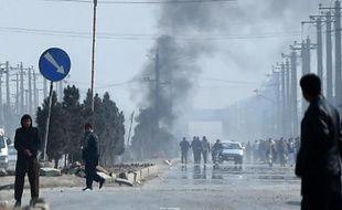 Incidents lors d'une manifestation contre la publication de caricatures de Mahomet dans Charlie Hebdo, le 31 janvier 2015 à Kaboul, en Afghanistan